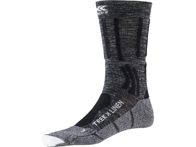 X-Socks Trek X Linen calze Uomo, dolomite grey melange/opal black